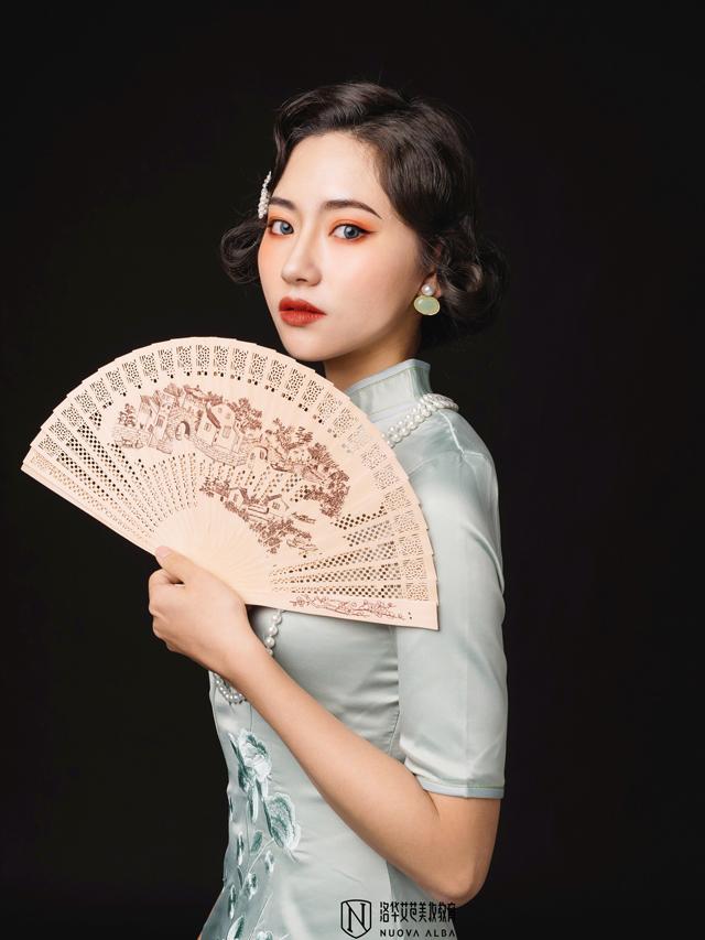 2019年洛华艾芭11月毕业典礼学员化妆作品图片(1)